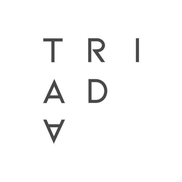 Triada Logo White